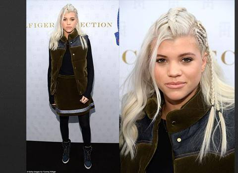 Hair done by Angela on Sofia Richie, daughter on Lionel Richie