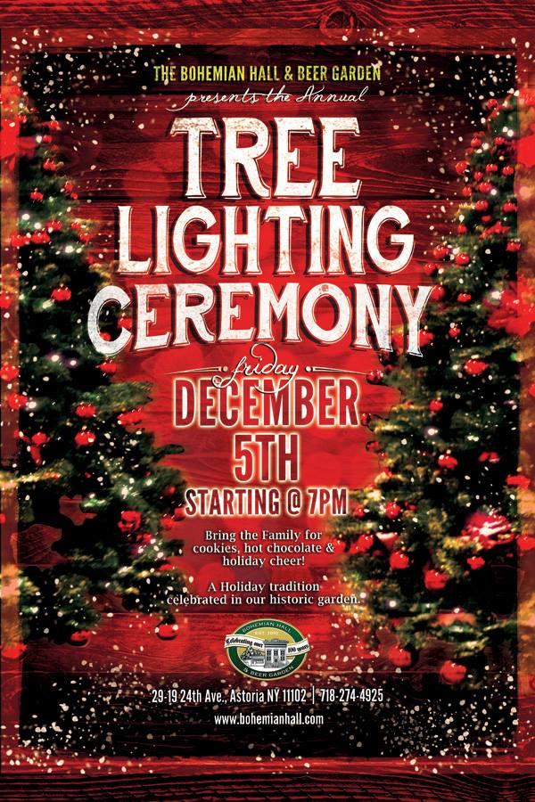 Tree Lighting At Bohemian Hall Give Me Astoria