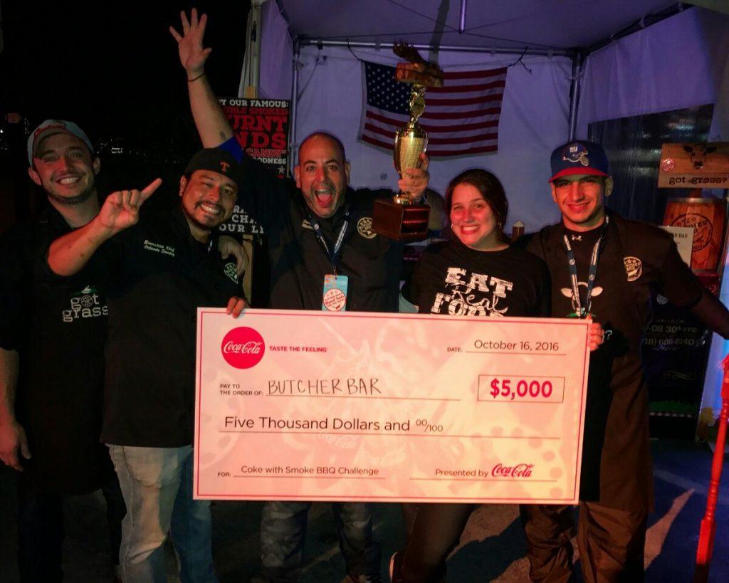 Owner Matthew & his crew celebrating the win