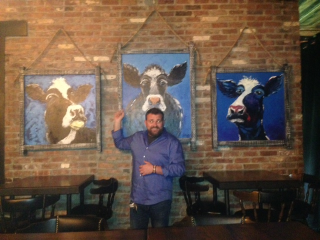 Owner Michael with Cows: