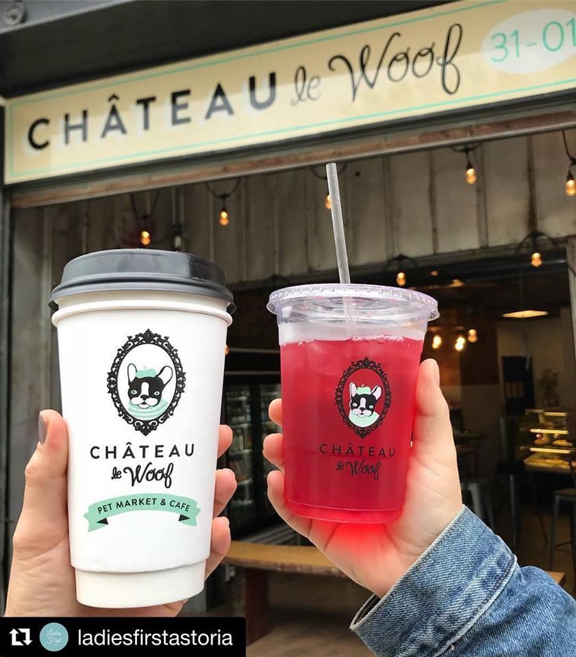 Image via Château le Woof Pet Market & Café Facebook via ladiesfirstastoria Instagram