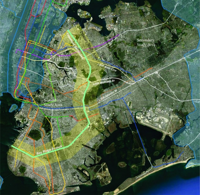 Image of the proposed passenger line. Image by MTA.