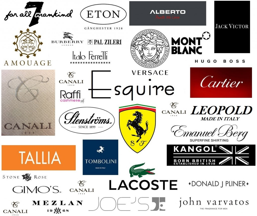 All the brands carried by Esquire