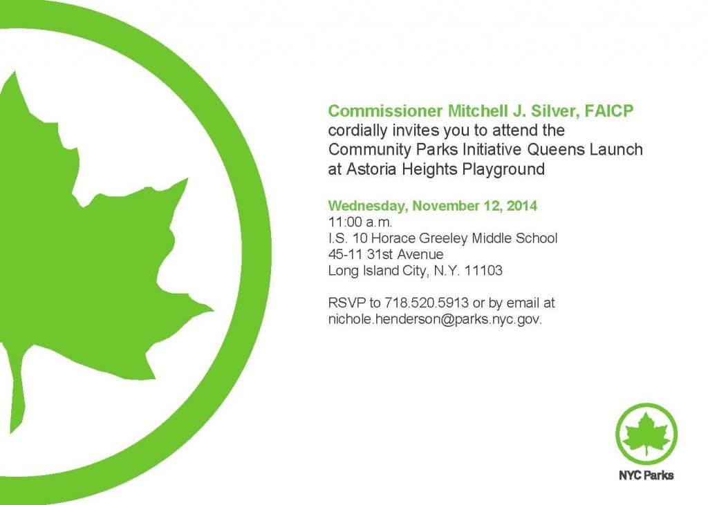 CPI-Queens Borough Launch Invitation