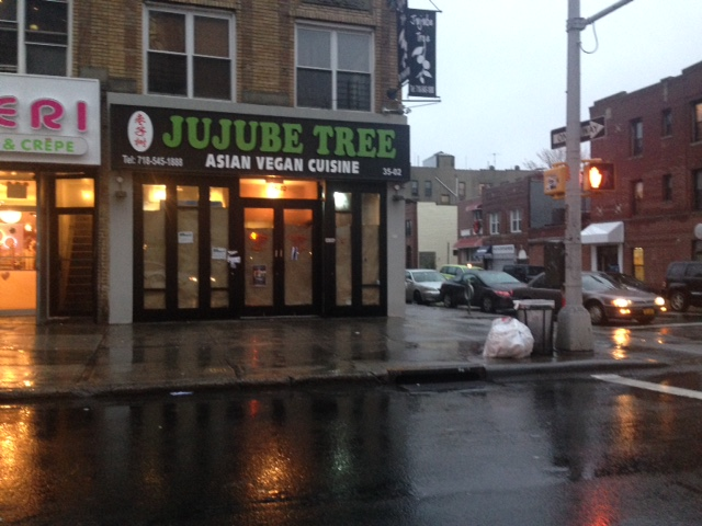 Jujube Tree Asian Vegan Cuisine, 35-02 30th Ave, in the old Chicken Shack space