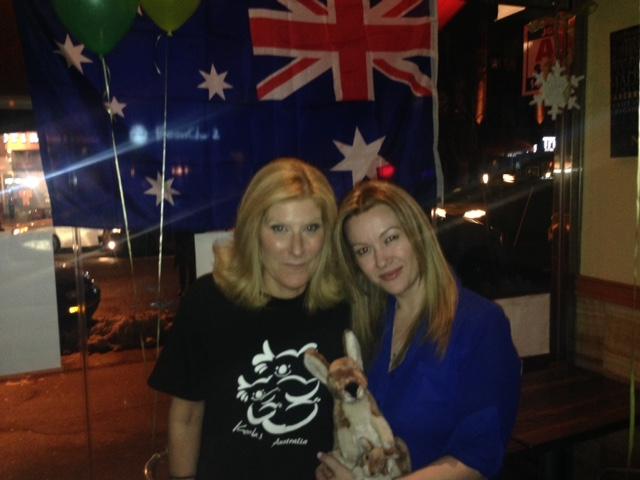 Thirsty Koala Co-owner Christine Chellos, and Sanja Mylonas of Give Me Astoria
