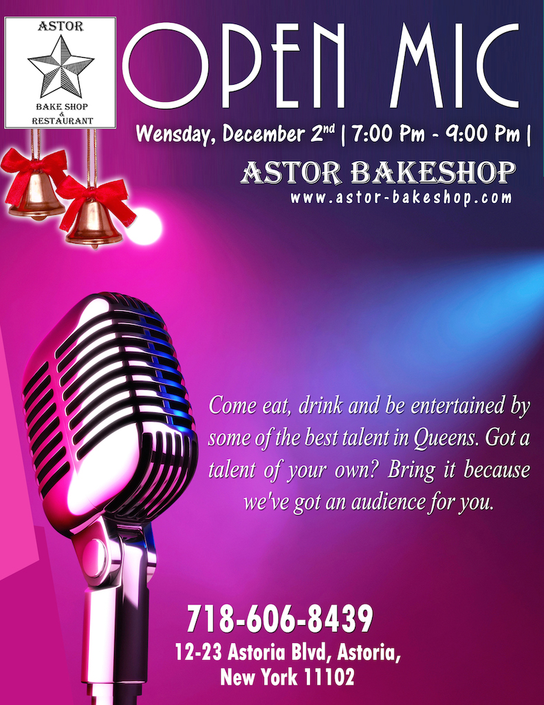 Astor Bake Shop Open Mic Hosted By Justin Howard Give Me Astoria