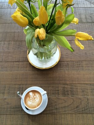 A latte from one of our favorites - Kinship